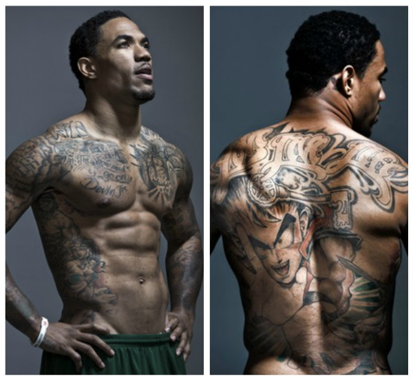 NY Giants Devin Thomas Shows Off His Body And Meaning