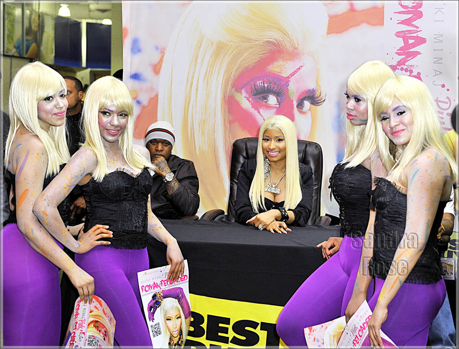 Nicki minaj at best buy for roman reloaded meet greet nicki is confident that roman reloaded will top the sales of her critically acclaimed debut album pink friday debuted at 2 with over 17 million in sales m4hsunfo